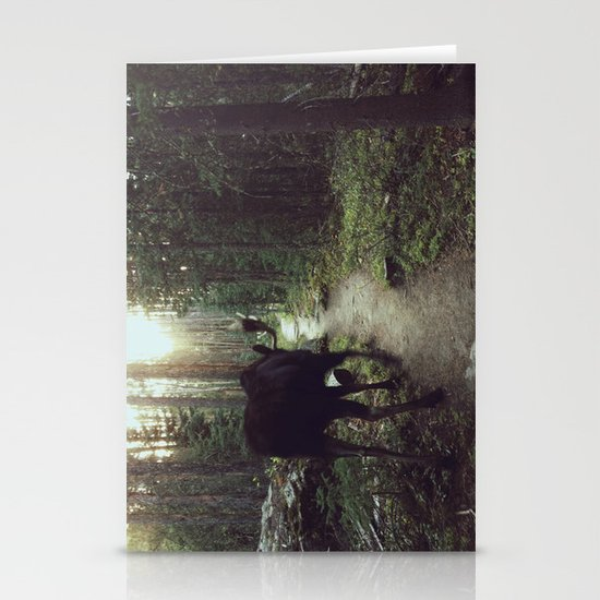 Trail Moose Stationery Card