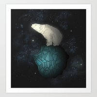 Art Print featuring Bear Cosmos by Monica Gifford