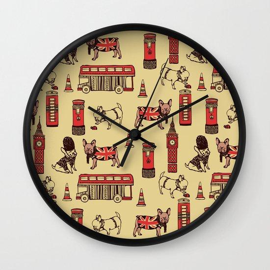 London Frenchies Wall Clock