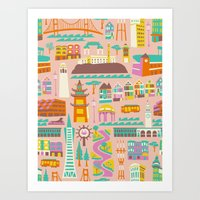 Going to San Francisco Art Print