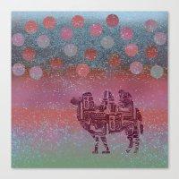 camel on the moon Canvas Print