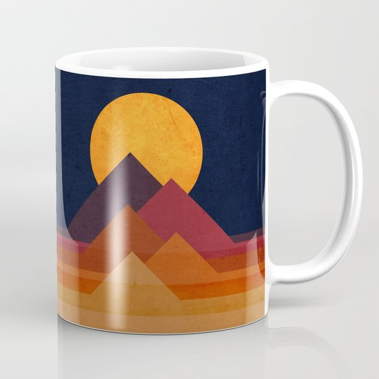 Full moon and pyramid Mug