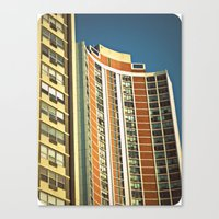 Lo-Fi Highrise ~ Mid-Cen… Canvas Print