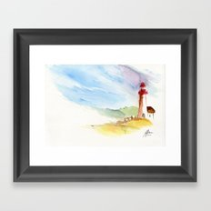 Lighthouse Impressions Framed Art Print