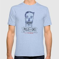 Ansiedad (Anxiety) Mens Fitted Tee Athletic Blue SMALL