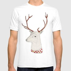 Dear deer. Mens Fitted Tee SMALL White