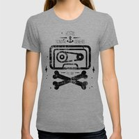 Pirate Tape Womens Fitted Tee Tri-Grey SMALL