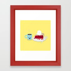 Coffee and Pie Framed Art Print