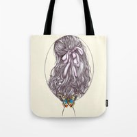 Bow and Butterfly Tote Bag