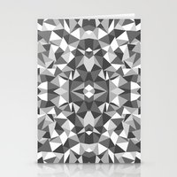 Abstract Colide Black and White Stationery Cards