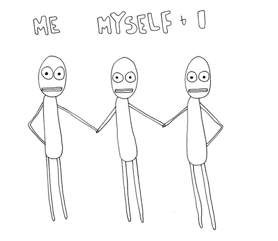 Me Myself and I Art Print