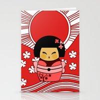 Kokeshi Sakura Stationery Cards