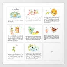 The story of the Chicken Frog Art Print