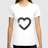 Love to write Womens Fitted Tee White SMALL