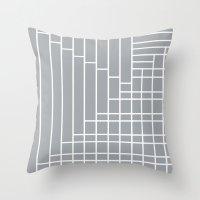 Fuzz Outline Grey Throw Pillow