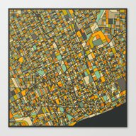 DETROIT MAP Canvas Print