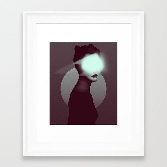 Bastet/Cat Goddess (Color Variant Version) Framed Art Print