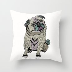 Ares The Pug Throw Pillow