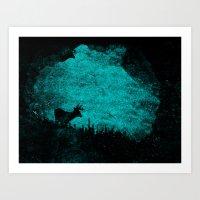 Art Print featuring Patronus in a Dream by Bright Enough💡