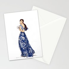 Vintage Hawaiian Print Girl Fashion Illustration  Stationery Cards