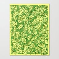Floral Hops Canvas Print