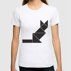 Sphynx cat in geometry Womens Fitted Tee Ash Grey SMALL