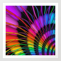 fractal and colorful -2- Art Print