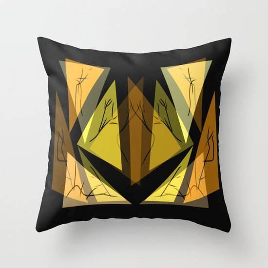 Triangles of the Earth  Throw Pillow