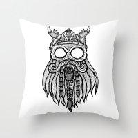 Viking Cat Throw Pillow