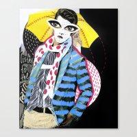 ::Man in the Rain:: Canvas Print
