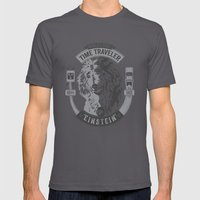 World's First Time Traveler Mens Fitted Tee Asphalt SMALL