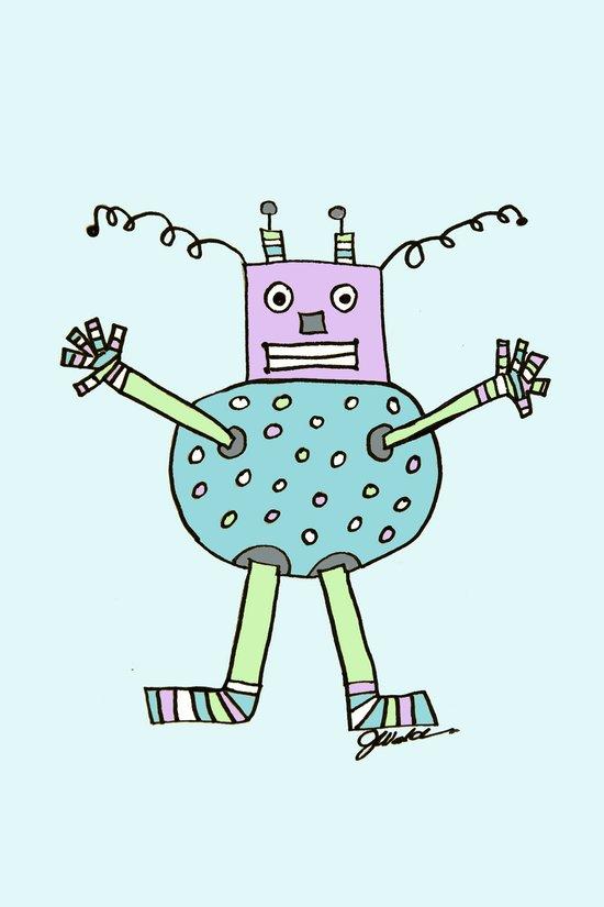 Caleb's Aqua Bot Art Print