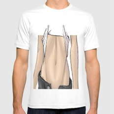 abs SMALL White Mens Fitted Tee