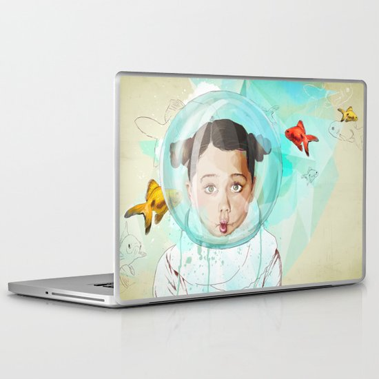 Fish Girl Laptop & iPad Skin