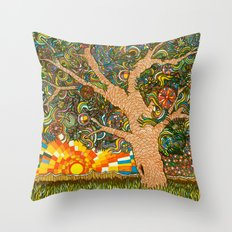 Etz haDaat tov V'ra: Tree of Knowledge Throw Pillow