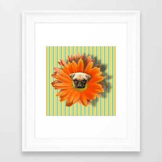 Pistil Pug Framed Art Print