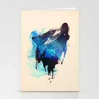 Stationery Card featuring Alone as a wolf by Robert Farkas