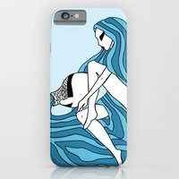 iPhone & iPod Case featuring Aquarius / 12 Signs of the Zodiac by Eltina Giannopoulou