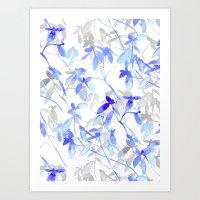 Premonition (Blue Grey) Art Print