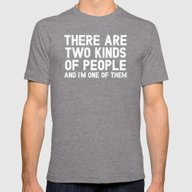 People Mens Fitted Tee Tri-Grey SMALL