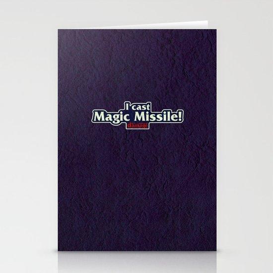 I Cast Magic Missile Stationery Card