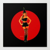 Sexy Witch Canvas Print