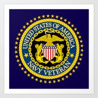 US Navy Veteran Art Print