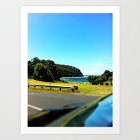 Coast From Car Art Print