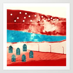 Red landscape Art Print