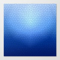 Blue Stained Glass  Canvas Print