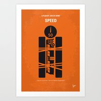 No330 My SPEED minimal movie poster Art Print