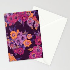 Floral in purple tones Stationery Cards
