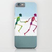 running sketeton with banana iPhone 6 Slim Case