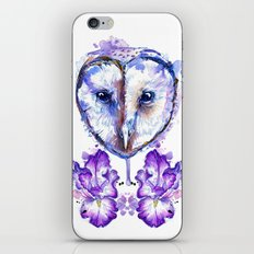 Owl and Irises iPhone & iPod Skin